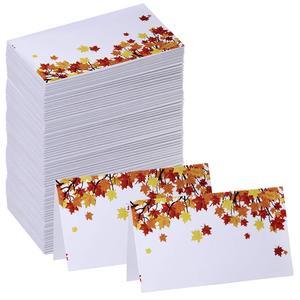 Настроить картонную бумагу двойные стороны кленовый лист шаблон приглашение место карты Таблица карты