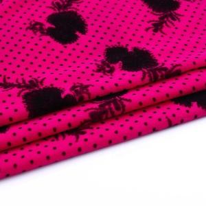 Mercado de Oriente medio impreso encantadora tejido de poliéster 5000 micro de terciopelo coreano para vestidos