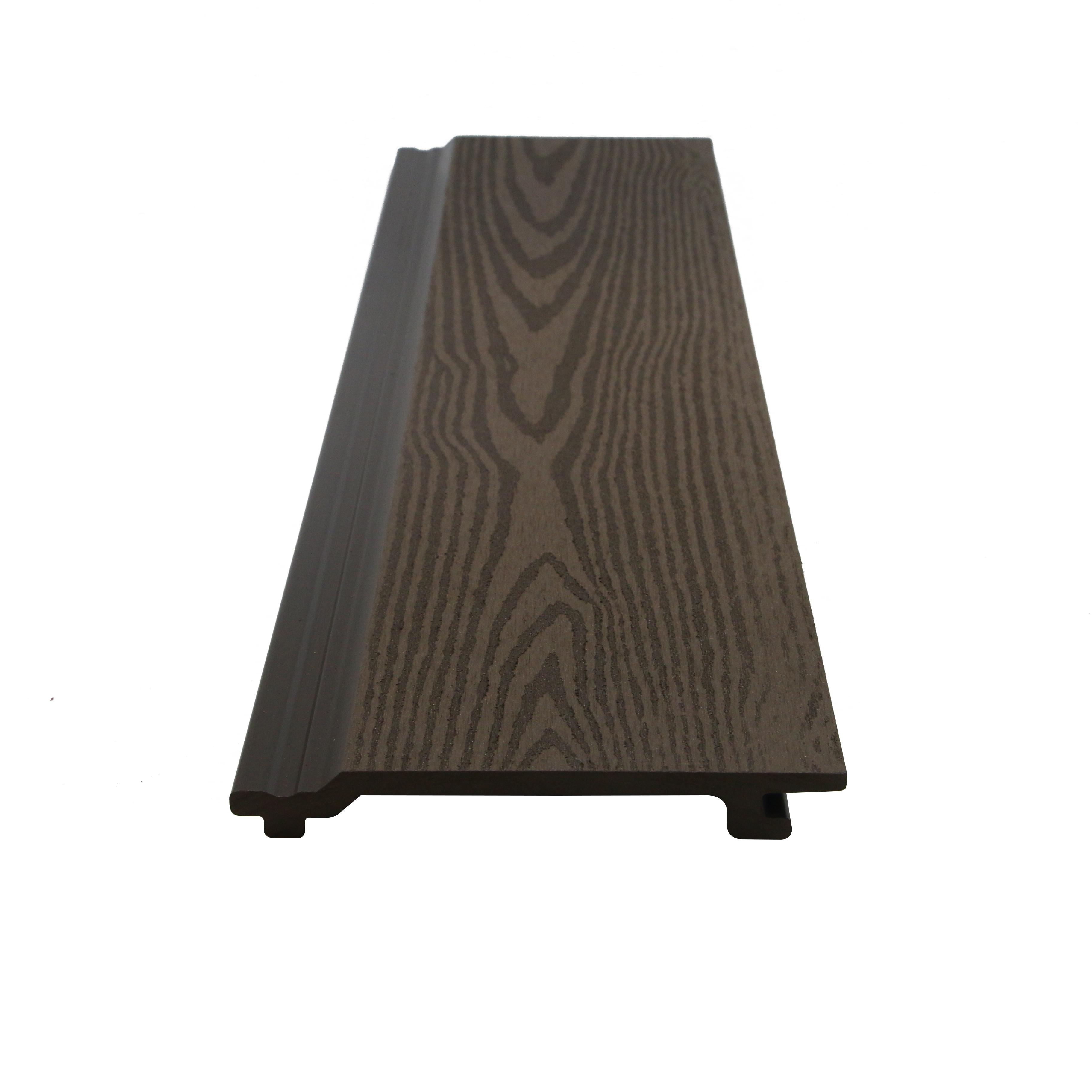 Черная текстура современная деревянная композитная внешняя облицовочная стеновая панель