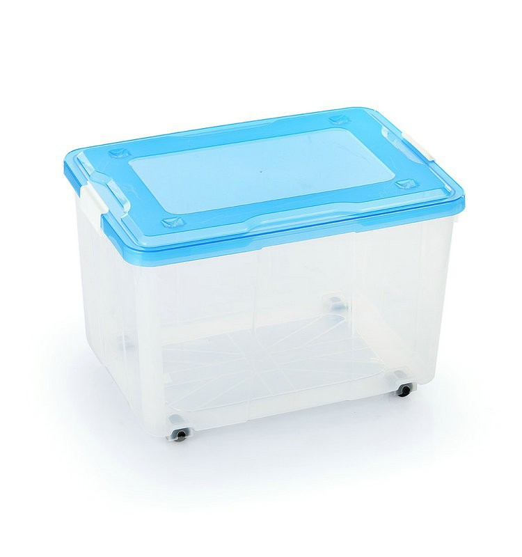 Stronger plastic 50l clear plastic storage container box for Decor 6l container