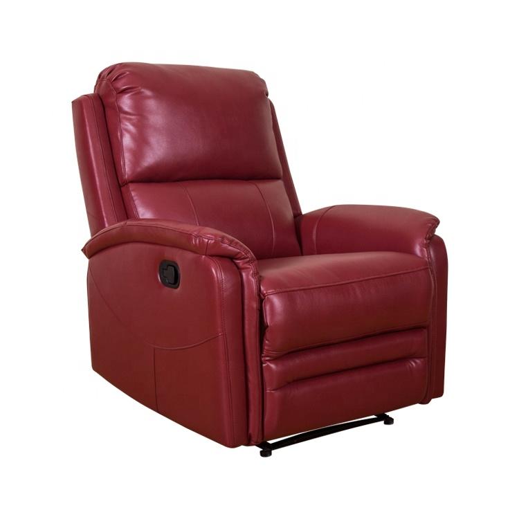 Casa furnituren aire de cuero sillón reclinable silla en la sala de sofás