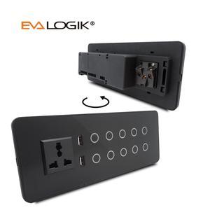ZW10 Z-波プラススマートライトスイッチ 10 ギャング壁スマートスイッチタッチパネルホームオートメーションでリモート制御ソケット、 USB