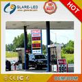 Displays electrónicos de precios de gasolinera en ámbar