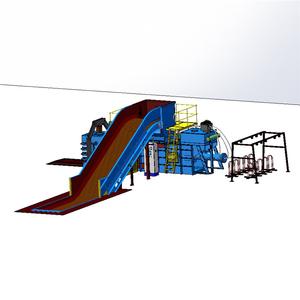 Yarı otomatik balyalama makinesi Dikey Atık Kağıt Atık Plastik Kompaktör