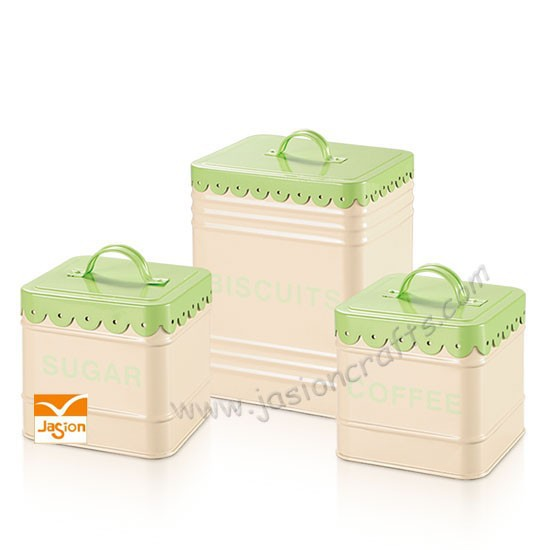 Flour Sugar Tea Canisters Flour Sugar Coffee Tea Set
