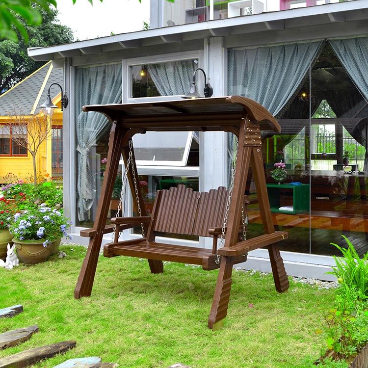 Antiguo jardín oscilación silla fabricantes dosel de oscilación al aire libre Columpio de jardín de dos asientos
