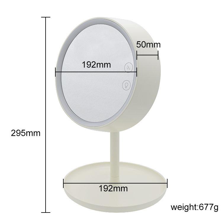 저렴한 맞춤형 할리우드 스타일 핸드백 거울 + 여행 터치 스크린 소형 데스크탑 led 미러