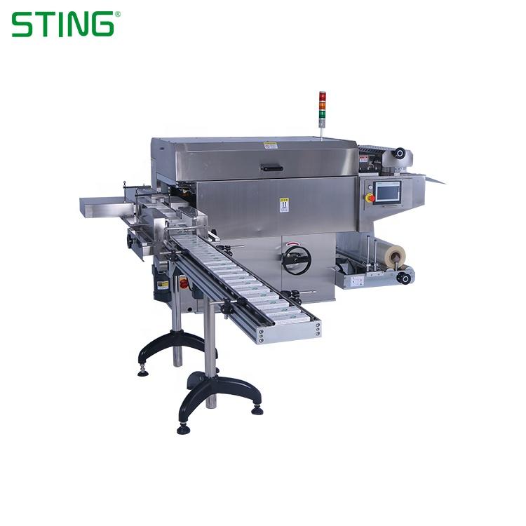 자동 Pvc 수축 o 링 씰링 셀로판] 랩핑 담배 상자 포장 기계