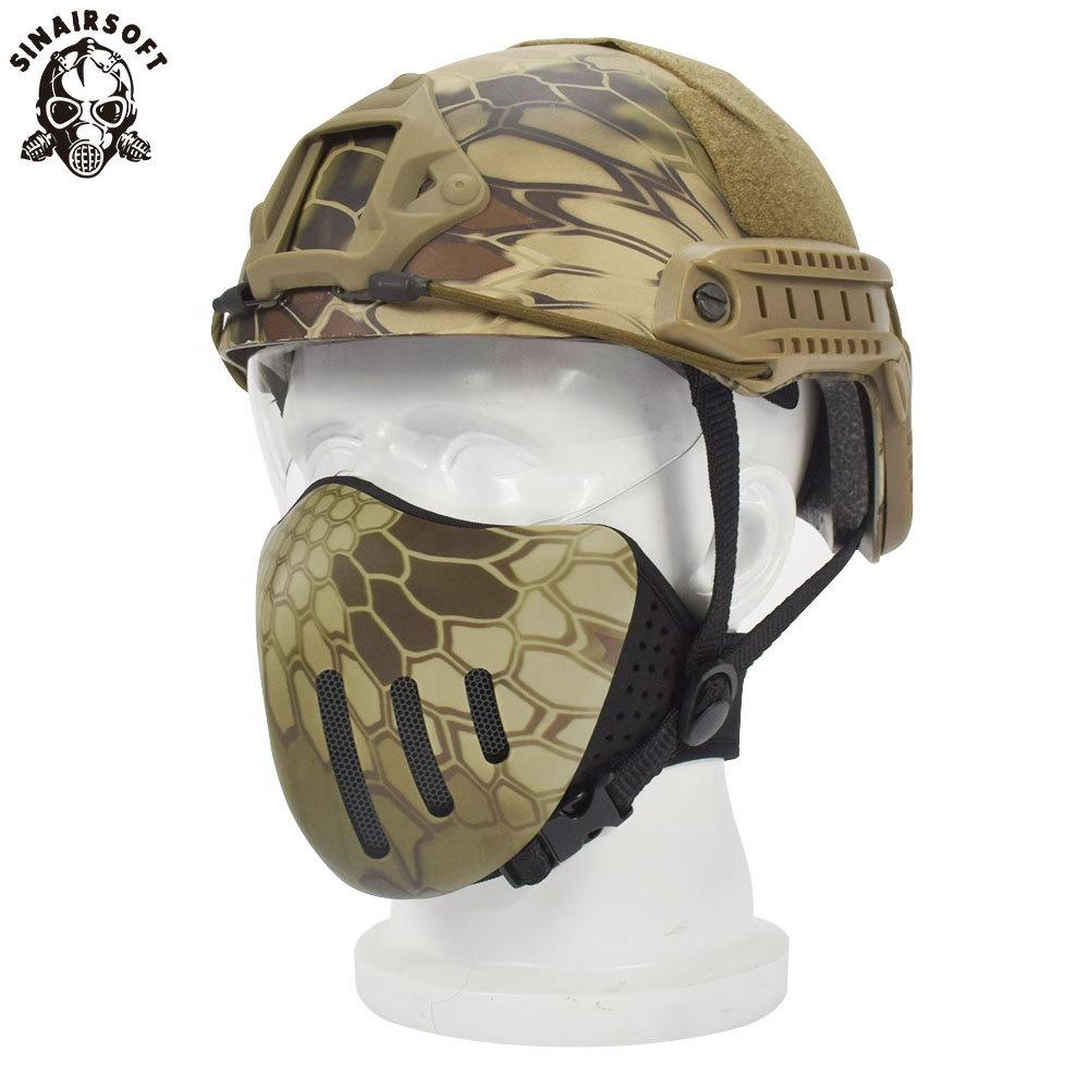 Tactical Getriebe Gesicht Shields Airsoft Jagd Militär Camo Geist Kampf Maske Paintball Airsoftsports Kunststoff