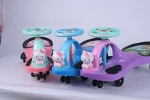 Los niños coche de juguete del bebé swing coche, niño de giro del coche, paseo en el coche para los niños