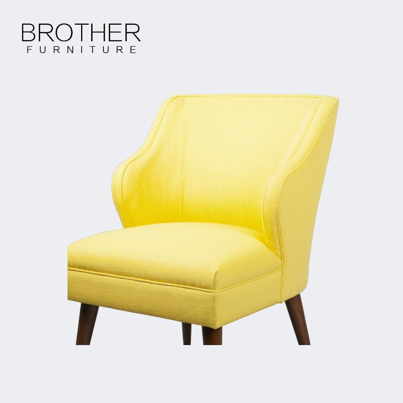 Специальный яркий желтый высокое качество диван ткань используется досуг кожаный стул