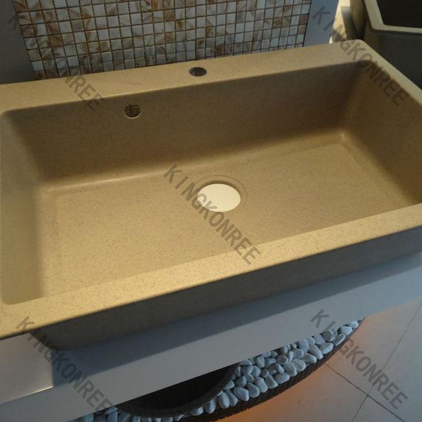 Superficie solida cucina design angolo lavello/rettangolare angolo lavello della cucina
