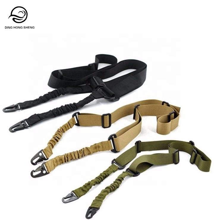 Al aire libre ajustador de la formación tradicional de doble punto arma dos puntos Rifle Sling cuerdas