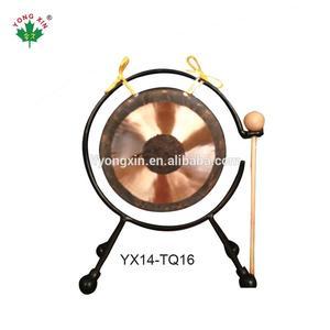 Antigo chinês tradicional grandes instrumentos musicais 8 polegada 10 25 cm wind top desk chau gongo com martelo
