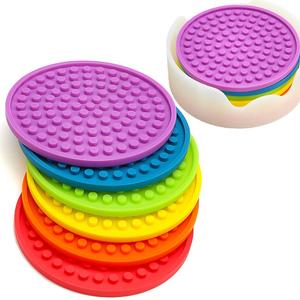 도매 내구성 design beautiful silicone rubber custom 음료 컵 받침/컵 mat