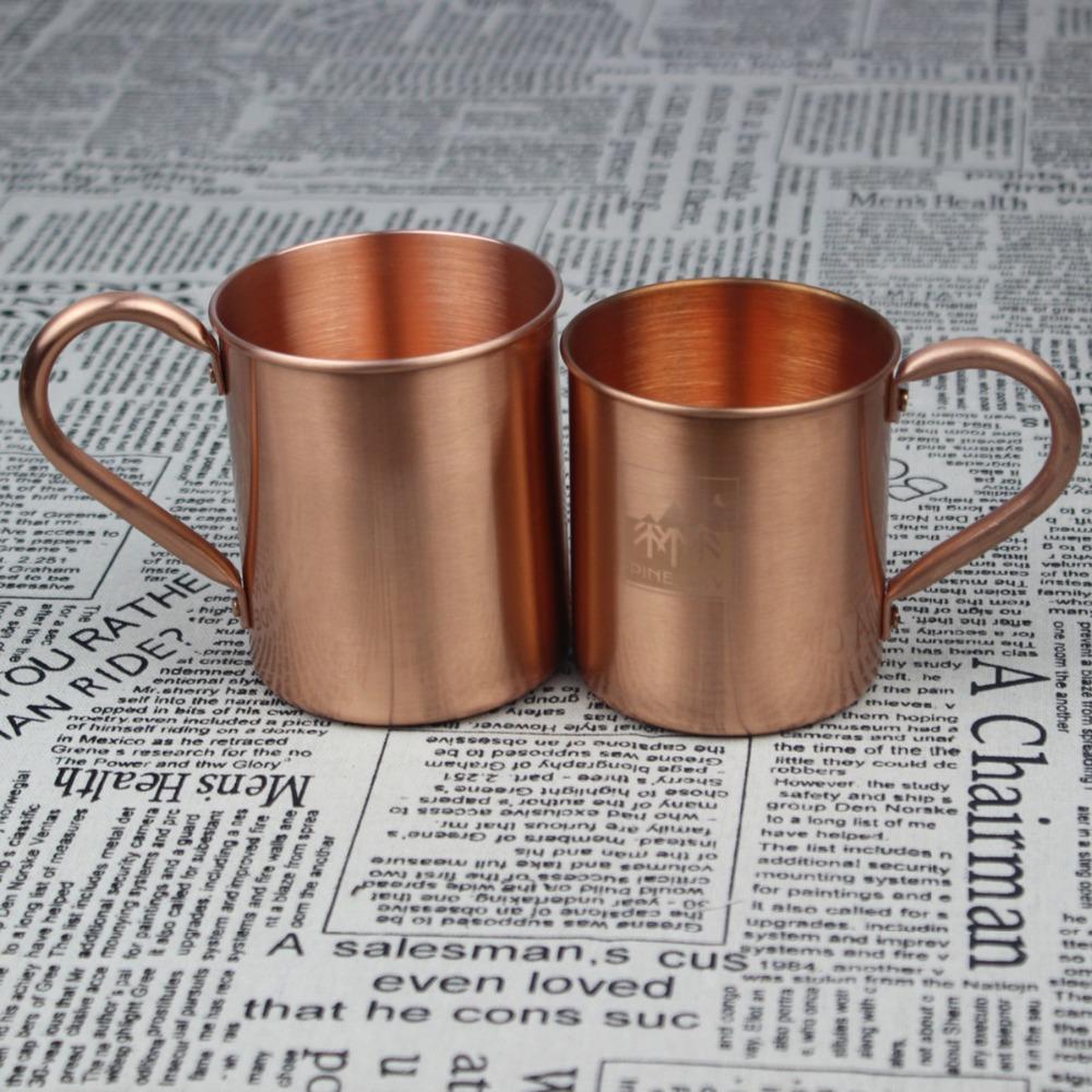 Calidad Superior 420 ml de cobre personalizado tazas de café con mango