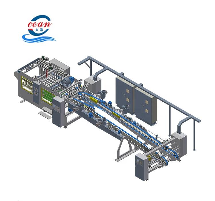 De alta velocidad automática flexográfica ranuradora de impresión de la máquina de corte