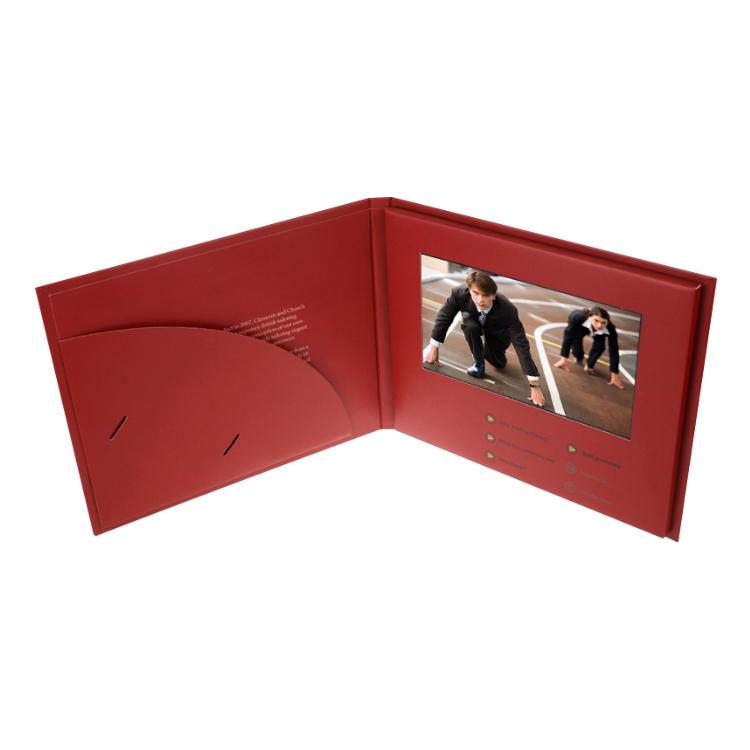 中国工場 320*240 lcd ビデオカード usb デジタルプレーヤーグリーティングカード格安冊子