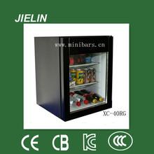 40 litros del tipo de absorción de la venta caliente mini-funcionamiento silencioso nevera pantalla