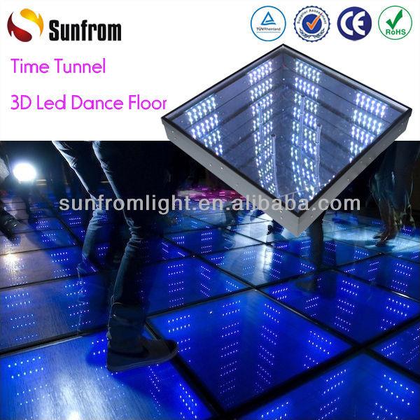 Exhibition nổi tiếng Dancing tầng gạch thủy tinh Changing thắp sáng đèn Led nhiều màu sắc