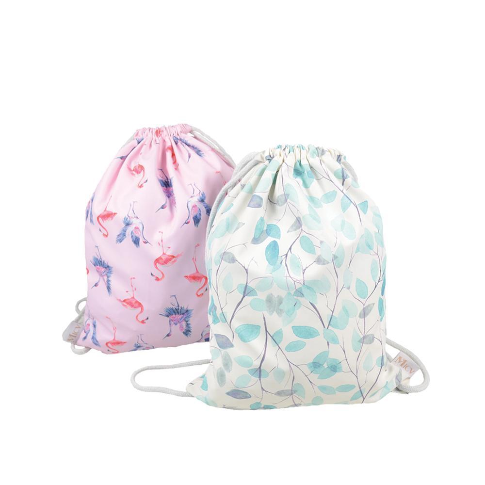 Out spor naylon polyester daiso flamingo denim İpli spor çantası