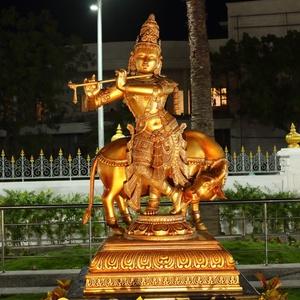 Grande de metal indiano bronze radha krishna escultura buda estátua de bronze