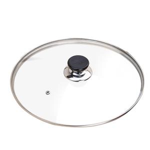 Utensilios de cocina tapa de vidrio templado Wok tapa de vidrio Pyrex redondo Chef Pan con tapa con mando