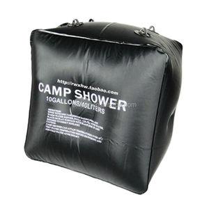 アウトドアハイキング熱い販売の太陽キャンプの折りたたみシャワー入浴40l10ガロン水袋