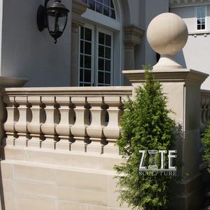 Ручной резной сад открытый украшения камень мрамор балюстрада поручень