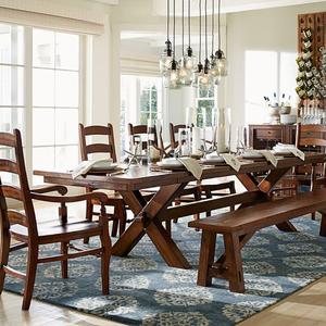 جديد الكلاسيكية خزينة ملابس خشبية علوي نوع مجموعة منضدة عشاء