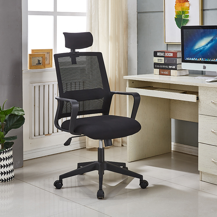 Preço competitivo popular alta dupla volta ergonômico executivo mobiliário de assento de malha completa cadeira de pessoal de escritório com encosto de cabeça