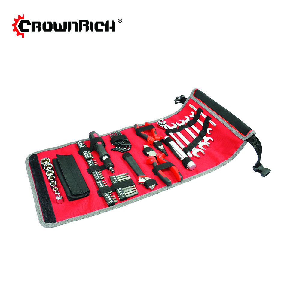 CROWNRICH 70 pcs Propriétaire Tool Set W/sac