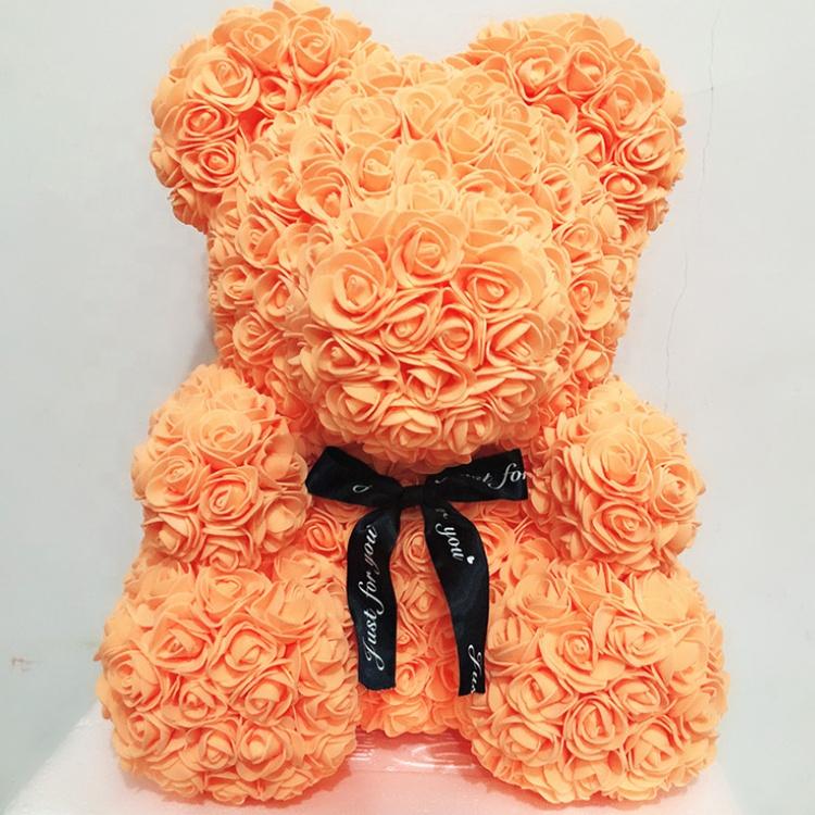 Eterno subiu flor pé ursinho de pelúcia rosa flor presente do dia dos namorados