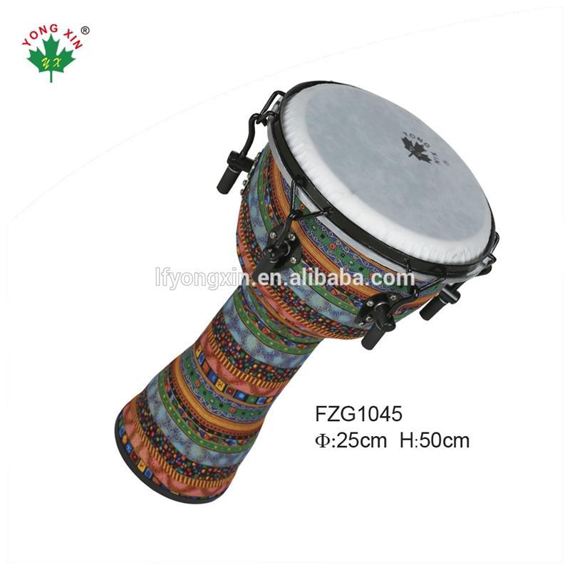Percussional brinquedos musicais do bebê real Mão feliz Tambor de Percussão Djembe Africano Tambor