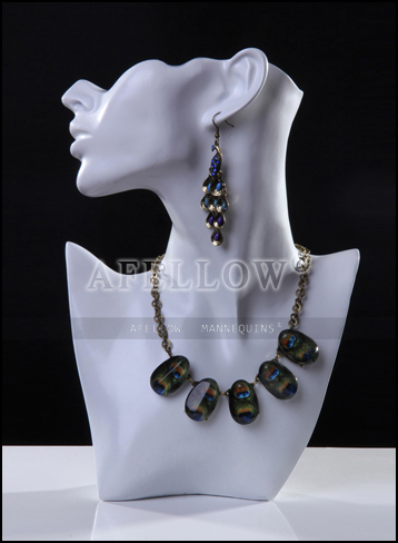 Afnpd11 female jewelry hat wig display mannequin head for Lady mannequin jewelry holder