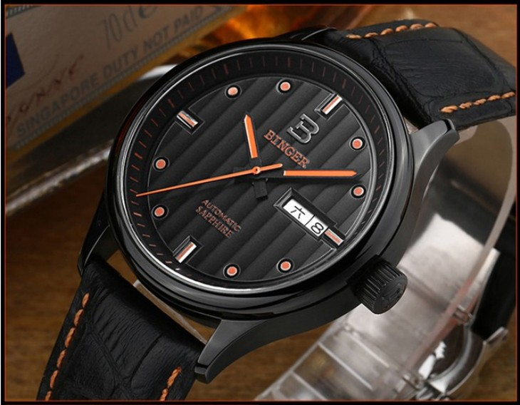 2016 Из Нержавеющей Стали Роскошный Белый мужская Часы Мода Световой Спортивные Часы 100 М Водонепроницаемый Серебристые Часы Бингер