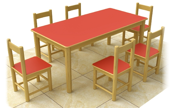 China cheap solid wood table and chairs kids writing