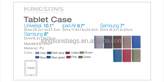 2014 hot selling fashional design kids tablet case with handle