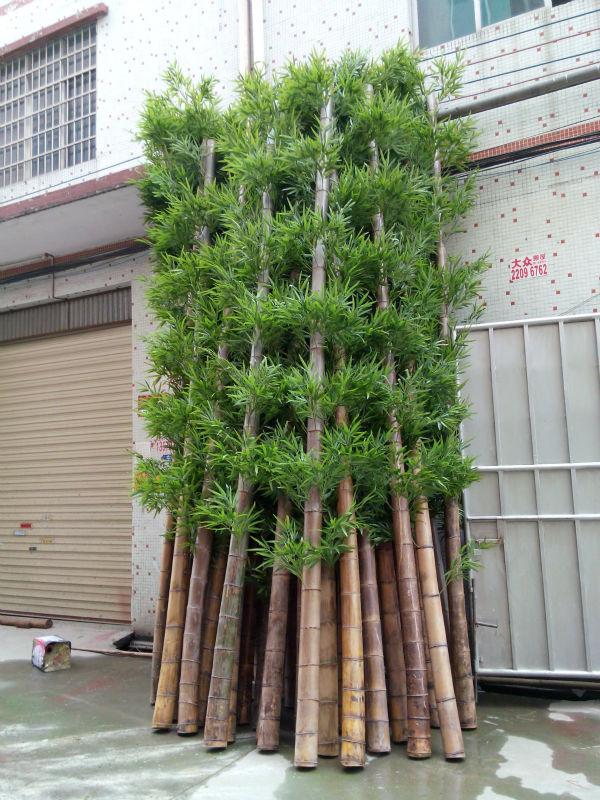 De alta qualidade ao ar livre barato real do tronco de bambu artificial de bambu da sorte - Plantas de interior baratas ...