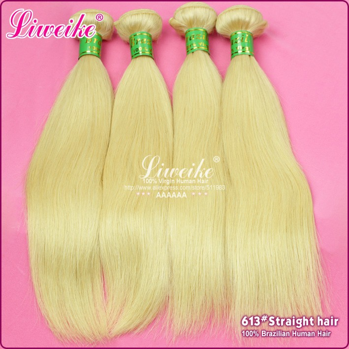 Being fashion new hair brazilian straight 5pcs brazilian virgin hair color613# 100g/piece blonde brazilian hair free shipping