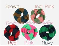 кусок Новый корейский двухцветная прекрасный мальчик девочка шарф зимой baby вязаная шапка шарф Теплые подарки