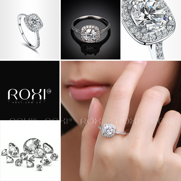 ROXI brand 2014 ,delicate crystal rings,,Свадьба ring,best gift for a girlfriend,Manual mosaic,101014534