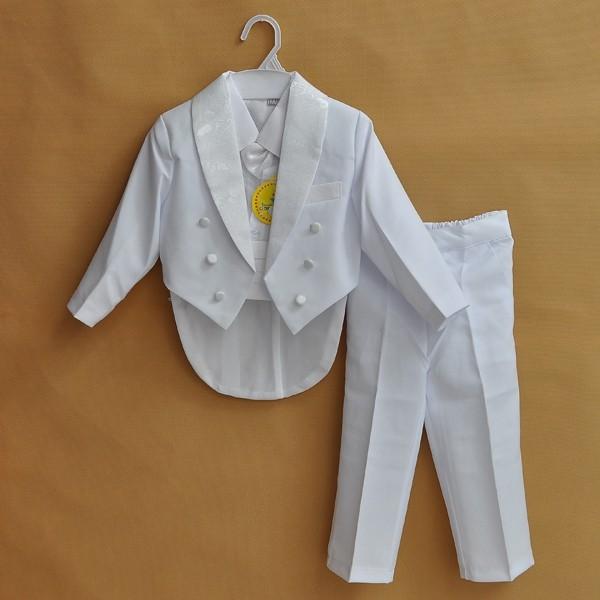 Baby Boy kid 1 4year white black Bow Tie Gentleman
