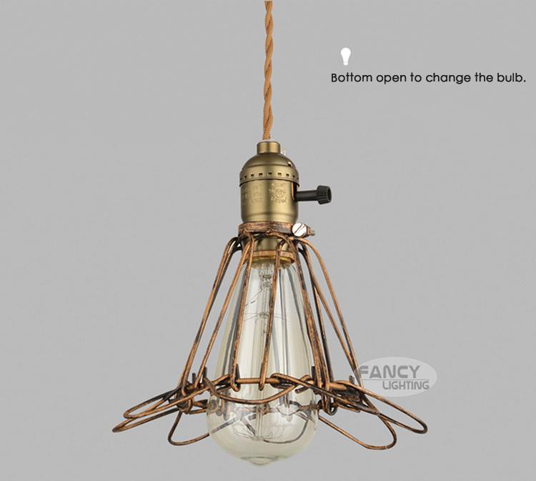 Aliexpress Buy Vintage Edison Pendant Lights Copper
