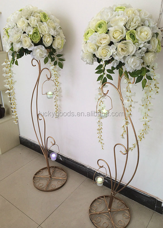 Hot sale decorative metal wedding flower stands buy for Decoration de stand