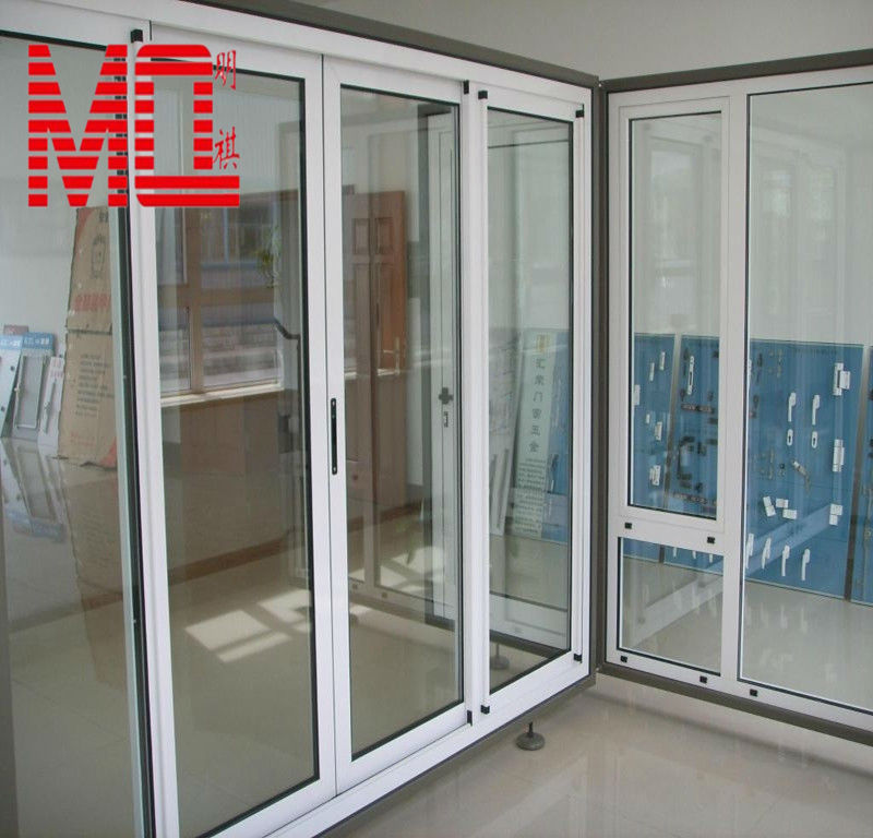 White Color Of Aluminium Glass Door 70serisealuminium Doors And