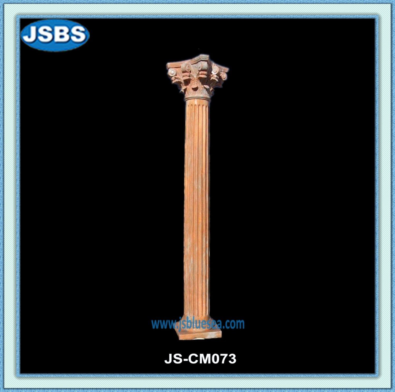 talladas a mano de piedra roja romano columnas para porche