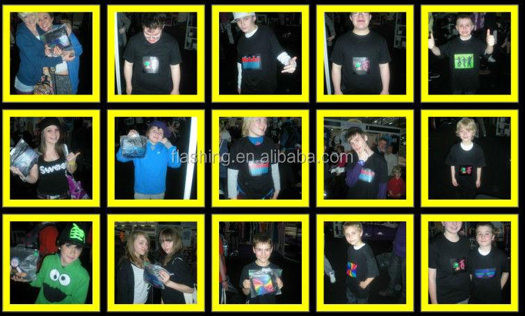 2015 Hot sell led shirt,EL Tshirt