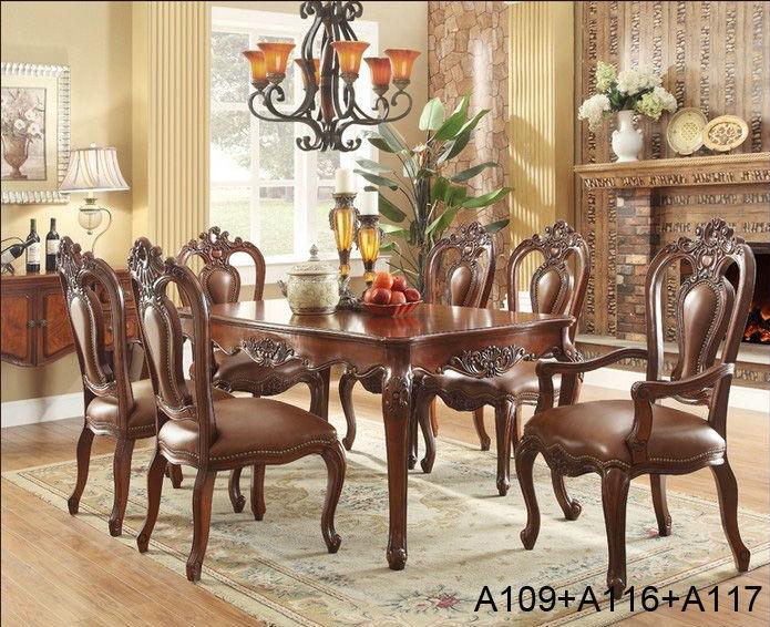Hot vendre pas cher en bois antique salle manger meubles - Table a manger en bois pas cher ...