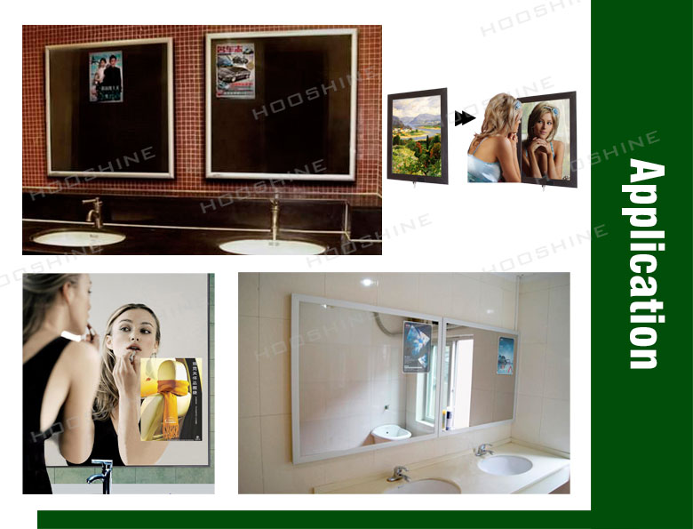 2013 hot sale magic mirror light box/aluminum frame